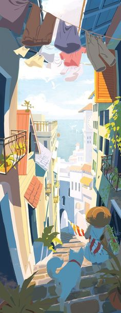 New design art background drawings Ideas Art And Illustration, Building Illustration, Illustrations And Posters, Background Drawing, Travel Drawing, Matte Painting, Summer Art, Illustrators, Design Art