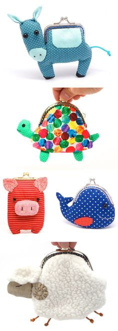 fun animal wallets