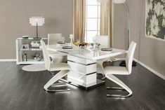 5 PC Furniture of America Midvale Collection Dining Room Table Set CM3650T