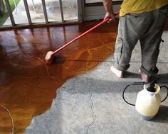 Beau Concrete Patio; Staining/sealed
