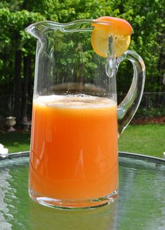 Grilled Georgia Peach Lemonade Recipe - from Tablespoon! _ I was introduced to this delish summer drink on a trip to Atlanta for a conference. I just had to have it -- even way up north -- so I created this version! Refreshing Drinks, Summer Drinks, Cold Drinks, Fun Drinks, Beverages, New Recipes, Cooking Recipes, Drink Recipes, Cheers