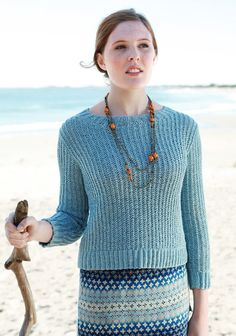 Modern Shaker knit pullover - would totally add a little length