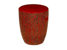 Exceptional Ceramic Garden Stool   Red