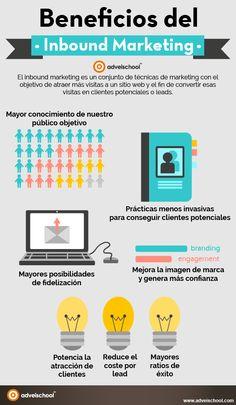 Beneficios del Inbound Marketing #infografia #infographic #marketing | TICs y Formación