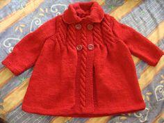Abrigo para niña tejido en dos agujas - Imagui
