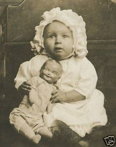 Vintage Antique Baby Doll Little May Vani 7 Months Angel Collectible RPPC Photo | eBay