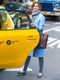 Emmy Rossum hailed her own cab in NYC March 19.