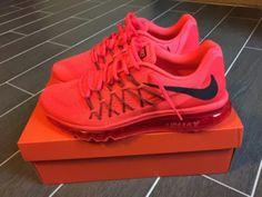 1b1bbfc046 Nike Air Max 2015 Anniversary Pack Bright Crimson Solar Red size 10.5 New  In Box