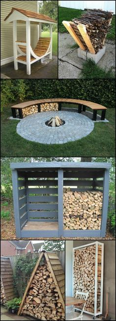 Firewood Storage Ideas  theownerbuilderne...  Do you have a wood burning firepla...