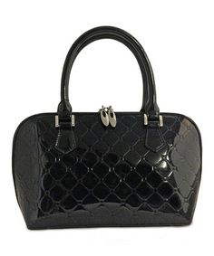 Another great find on #zulily! Black Quilted Anuta Leather Satchel #zulilyfinds