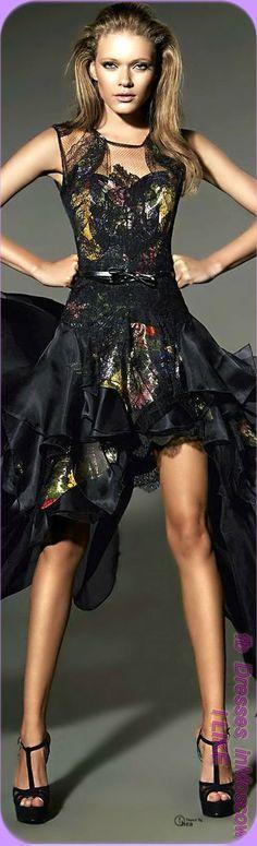 Artsy side ruffle dress