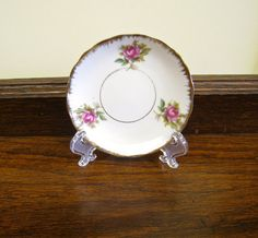 Bone China Butter Pat Miniature Plate from Child's set by HerMaj