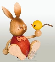 A product from the 'Stupsi Rabbits' edition - The funny and vivid bunny world of Kuhnert embodies the joy and life of spring time! They are a perfect addition to your Easter celebration. Wooden Figurines, Collectible Figurines, Happy Easter, Easter Bunny, Mountain Crafts, Easter Celebration, All Things Cute, Corporate Gifts, Handicraft