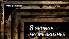 8 Grunge Frames Photoshop Brushes via YouTheDesigner Free Photoshop, Photoshop Brushes, Innovation Design, Grunge, Frames, Free Downloads, Graphic Designers, Lightroom, Steampunk