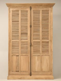 New Weathered Oak Armoire