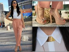 Blouse and necklace :Forever21  pants : H  SHOES: Charlotte Russe    maytedoll's blog. :)