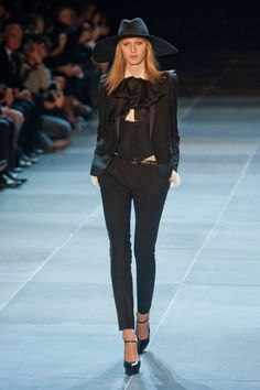 Saint Laurent Spring 2013 (or, how to dress like the cast of AHS: Coven!  LOL)