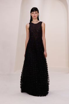 Black sparkling dress / Spring-Summer Haute Couture / Haute Couture / Woman / Dior official website