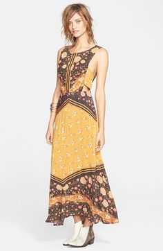 Free People 'Sunrise Oblivion' Floral Print Dress available at #Nordstrom