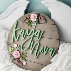 Isn't this lovely? They wanted the shiplap stained the classic grey and it turned out so pretty and the colors compliment it perfectly! Baby Name Signs, Baby Names, Kid Names, Nursery Signs, Nursery Decor, Middle Names For Girls, Wood Name Sign, Aging Wood, Baby Shower