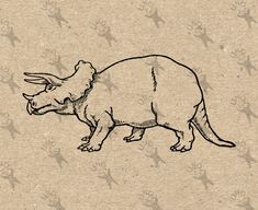 Triceratops Vintage image Raptor Dinosaur Instant Download retro picture Digital printable clipart graphic Totes Transfer Iron On  300dpi by UnoPrint on Etsy #hq #png #bw #Ephemera #diy #old #book #illustration #gravure #inspiration #retro #antique #vintage #300dpi #craft #draw #drawing  #black #white #printable #crafts #transfer #decor #hand #digital #collage #scrapbooking #quality