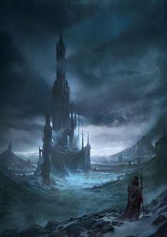 Dark Tower Winter Ice Wizard Fantasy Concept Art