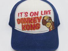 Nintendo Donkey Kong Mario Blue Bioworld Youth Childrens Size Snapback Hat  #Bioworld #BaseballCap  #Nintendo Donkey Kong
