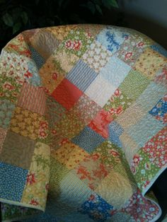 A Beautiful 40 X 44 Quilt In The Moda by WrappingYouInWarmth, $88.00