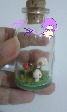 Mushroom in a bottle!