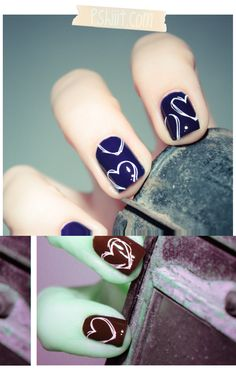 Heart nails! (Bourjois - Bleu Violet)