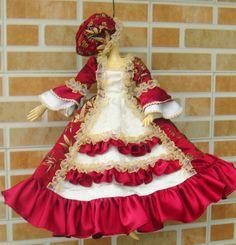 57.00$  Watch now - http://ali5r1.worldwells.pw/go.php?t=32755156189 - 1/3 1/4 1/6 BJD Doll dress ancient costume court luxury fabrics princess dress MSD