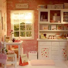 Diorama Cupcake Afternoon OOAK by Nerea Pozo * Keera *    #diorama #dollhouse  #miniature