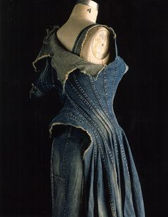 art to wear, jeans dress. Incredible seaming