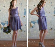 Purple Bridesmaid Dress for a Vintage Wedding