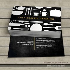 Kitchen Collage on Black Wood Business Card Plastic Business Cards, Wood Business Cards, Bakery Business Cards, Business Card Maker, Real Estate Business Cards, Minimal Business Card, Unique Business Cards, Business Card Mock Up, Business Card Design