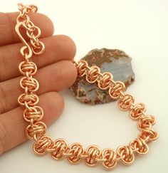 Grand Barrel Weave Chainmaille Bracelet Kit  - 16 gauge - Sturdy & Stylish - Solid Copper, Brass or Bronze