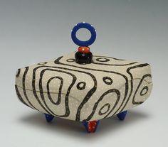 Blackline Diamond Pillow Box by Vaughan Nelson (Ceramic Box)   Artful Home