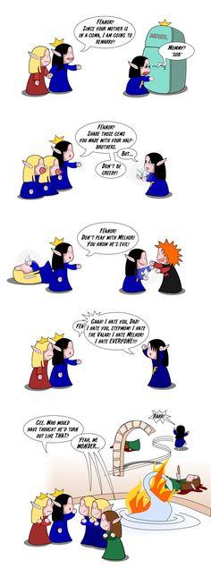 Silmarillion: The Good Parts Version 5 by spiegelscherben.deviantart.com on @deviantART. Bahahahaha! Omg! xD