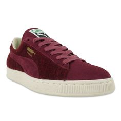 #Puma #Suede City Menswear - Burgundy/White #pumas #suedes #trainers #sneakers