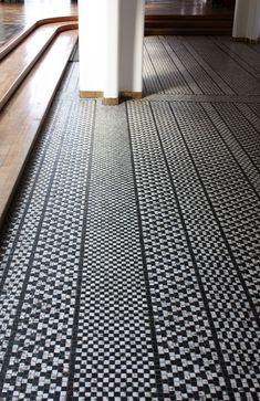 Floor in suite bathroom- Emi's room arne jacobsen / aarhus town hall, denmark