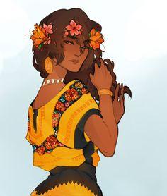 Beautiful woman, Pacific Islander, Mexican, or Central American. #poc #fantasy #diversity