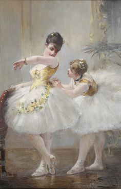 The Ballet Dancers (1876). Albert Ludovici Snr (British, 1820-1894). Oil on panel. Ludovici had a long and established career, often exhibiting at the Royal Society of British Artists, where he was at one point treasurer. Included in the portraits he...