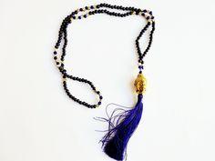 Buddha tassel necklace (purple)