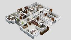 platna 3D casa