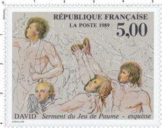 Timbre : 1989 DAVID Serment du Jeu de Paume - esquisse. | WikiTimbres