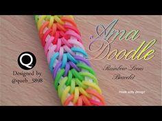 Ama Doodle Rainbow Loom Bracelet - hook only - YouTube