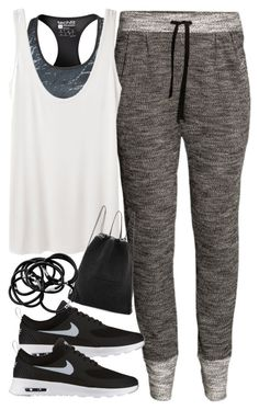 """Outfit for the gym"" by ferned ❤ liked on Polyvore featuring adidas, H&M, NIKE, The Row and Kara"