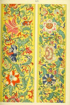 exemples d'ornement chinois sélectionnés à partir d'objets dans le musée de South Kensington et d'autres collections (1867) logés à l' Internet Archive , donnés par le Philadelphia Museum of Art ).