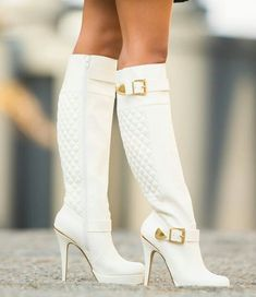white high heel boots...I love these!!!!!