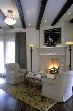 White surround makes this Magnum stand out! Decor, Inspiration, Living Room, Home, Indoor, Indoor Fireplace, White, Home Decor, Room